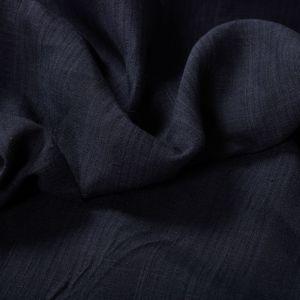 Tecido Linho Puro Listrado Azul Marinho