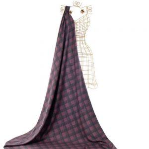 Tecido Alfaiataia Dior Estampa Doncella Xadrez Marsala