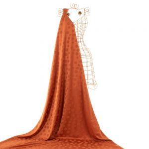 Tecido Alfaiataria Dior Acetinada Poá Terracota