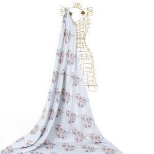 Tecido Alfaiataria Dior Estampa Doncella Cavalos Cinza