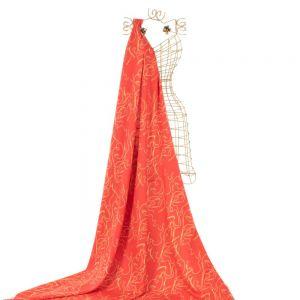Tecido Alfaiataria Dior Estampa Doncella Cintos Vermelho