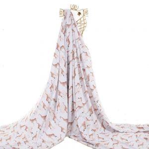 Tecido Alfaiataria Dior Estampa Doncella Girafas