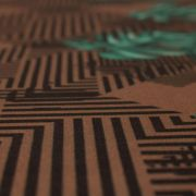 Tecido Alfaiataria Dior Estampa Geométrica Marrom
