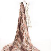Tecido Alfaiataria Dior Estampa Marrom