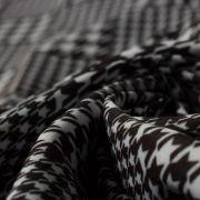 Tecido Alfaiataria Dior Estampa Pied de Poule Preto