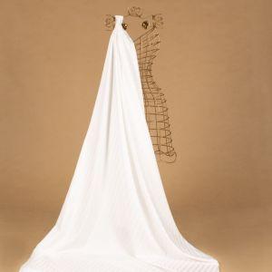 Tecido Alfaiataria Dior Listras Acetinadas Branco
