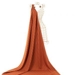 Tecido Alfaiataria Dior Listras Acetinadas Terracota