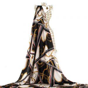 Tecido Alfaiataria Leve Estampa Inspiração Versace