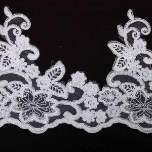 Tecido Bico de Renda Branco - 17cm