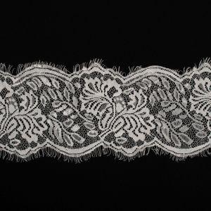 Tecido Bico de Renda Chantilly Branco - 12 cm