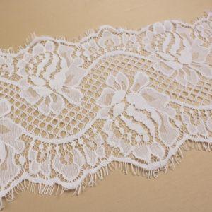 Tecido Bico de Renda Chantilly Branco 19cm