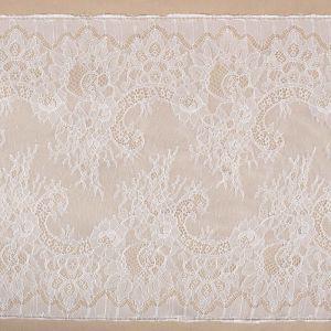Tecido Bico de Renda Chantilly Branco - 36 cm