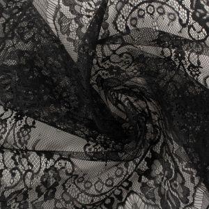 Tecido Bico de Renda Chantilly Preto 38cm