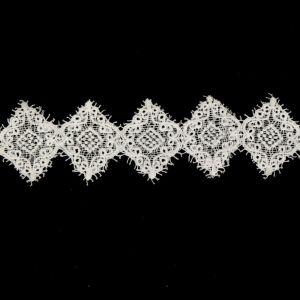 Tecido Bico de Renda Guipear 9cm Branco