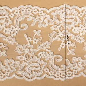 Tecido Bico de Renda Sutache Off White - 20cm