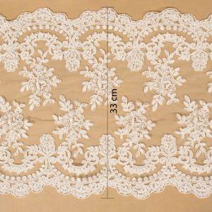 Tecido Bico de Renda Sutache Off White - 33cm