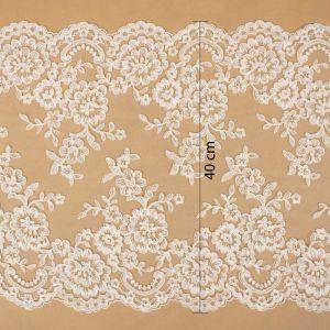 Tecido Bico de Renda Sutache Off White - 40cm