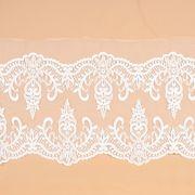 Tecido Bico Duplo de Renda Sutache Branco - 15cm