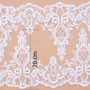 Tecido Bico Duplo de Renda Sutache Branco - 20 cm