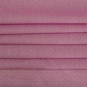 Tecido Cambraia de Algodão Changeant Micro Poá Cor de Rosa