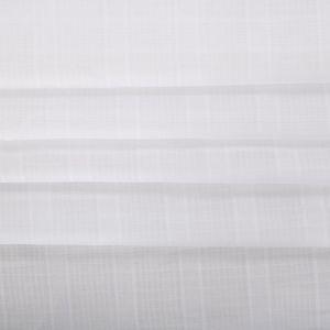 Tecido Cambraia de Algodão Maquinetada Xadrez Branco