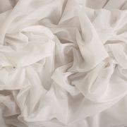 Tecido Cambraia de Algodão Premium Maquinetada Diagonal Off White