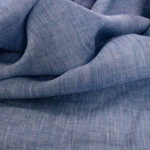 Tecido Cambraia de Linho Puro Mescla Azul Celeste