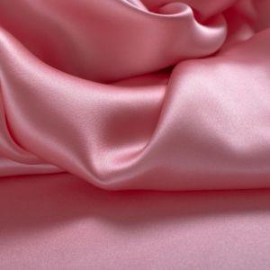 Tecido Cetim de Seda Pura Rosa Chiclete Claro