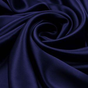 Tecido Cetim de Seda Pura Azul