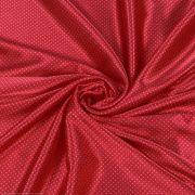 Tecido Cetim Span Estampa Poá Vermelho