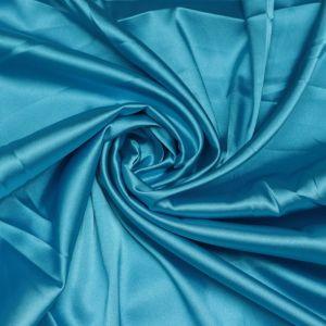 Tecido Cetim Span Premium Azul Turquesa Intenso