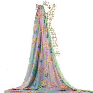 Tecido Challis de Viscose Doncella Estampa Tropical Tie Dye