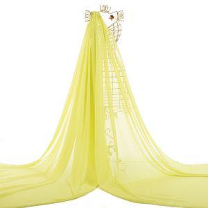 Tecido Chiffon Estampa Poá Verde Limão Claro
