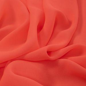 Tecido Crepe Amanda Premium Coral Neon