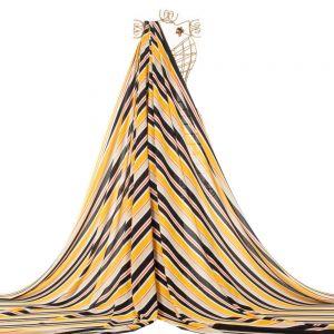 Tecido Crepe Bubble Estampa Listrada Amarelo