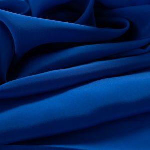 Tecido Crepe de Chine Seda Pura Azul Royal