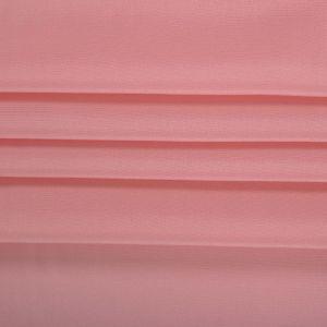 Tecido Crepe de Chine Seda Pura Coral Rosado Claro