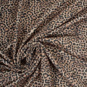 Tecido Crepe de Malha Estampa Animal Print Onça II