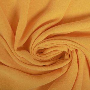 Tecido Crepe de Viscose Estonado Amarelo Damasco