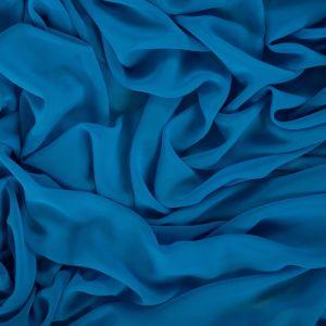 Tecido Crepe Georgete Azul Aquário Escuro