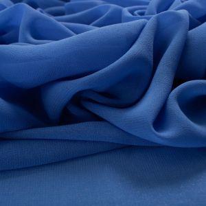 Tecido Crepe Georgete Azul Royal Claro