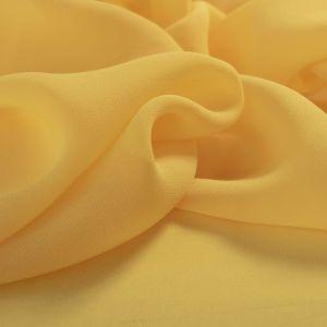 Tecido Crepe Georgete de Seda Pura Amarelo