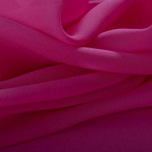 Tecido Crepe Georgete de Seda Pura Rosa Carmim
