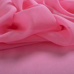 Tecido Crepe Georgete de Seda Pura Rosa Chiclete