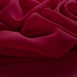Tecido Crepe Georgete de Seda Pura Vermelho Cereja