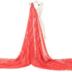 Tecido Crepe Georgete Estampa Doncella Tie Dye Rosa