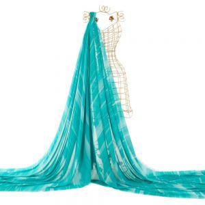 Tecido Crepe Georgete Estampa Doncella Tie Dye Verde