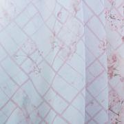 Tecido Crepe Georgete Estampa Doncella Xadrez Barrado Floral Azul