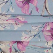 Tecido Crepe Georgete Estampa Floral Azul Serenity