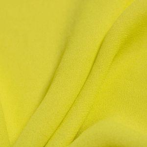 Tecido Crepe Georgete Pesado Amarelo Neon